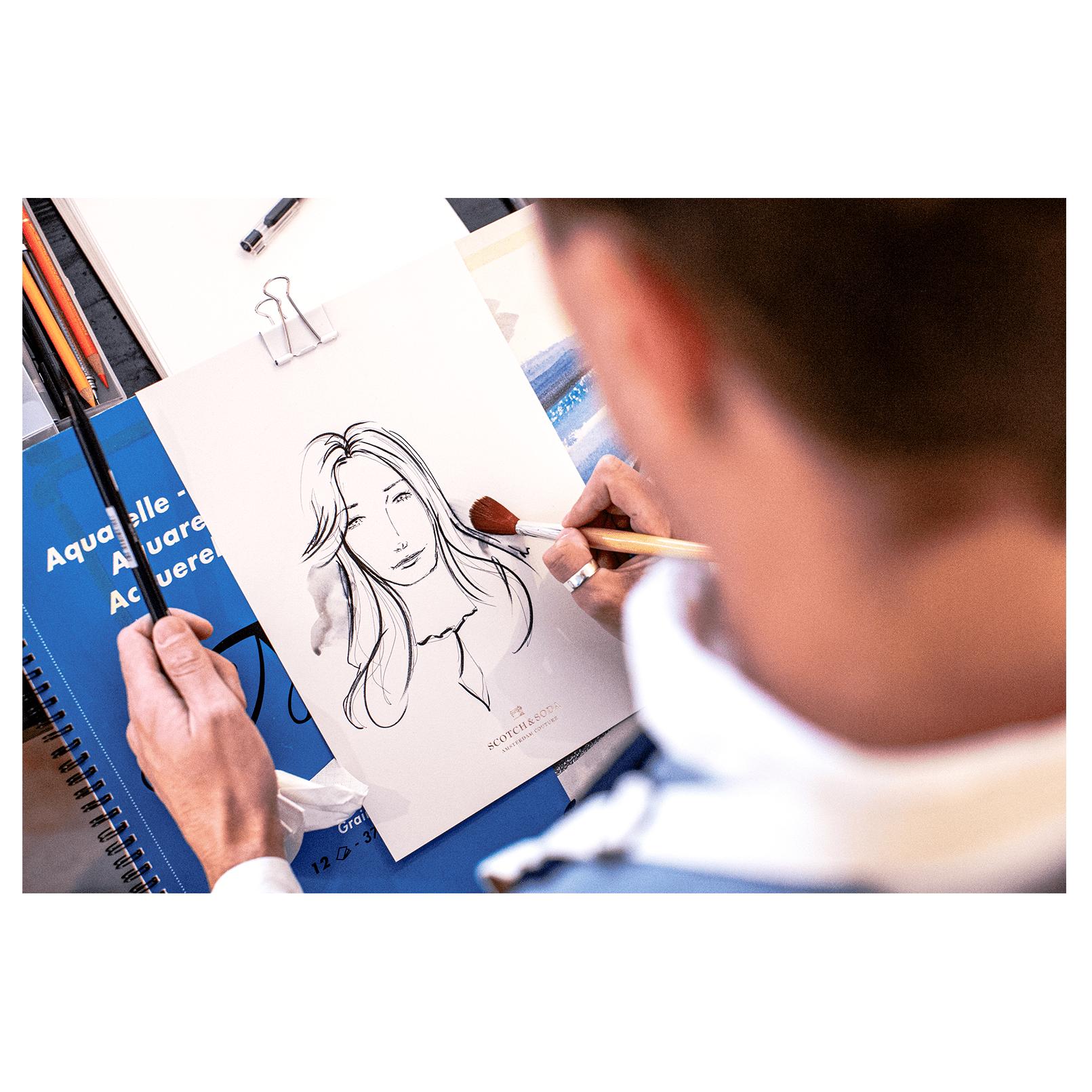 """Live Drawing auf der """"Art Night"""" für Scotch & Soda in Düsseldorf.  // Traditional // Fotos: Gadplan"""
