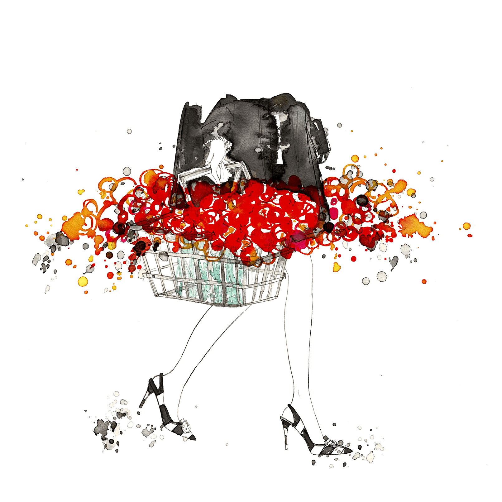 Modeillustrationen. // Traditional / Digital. //