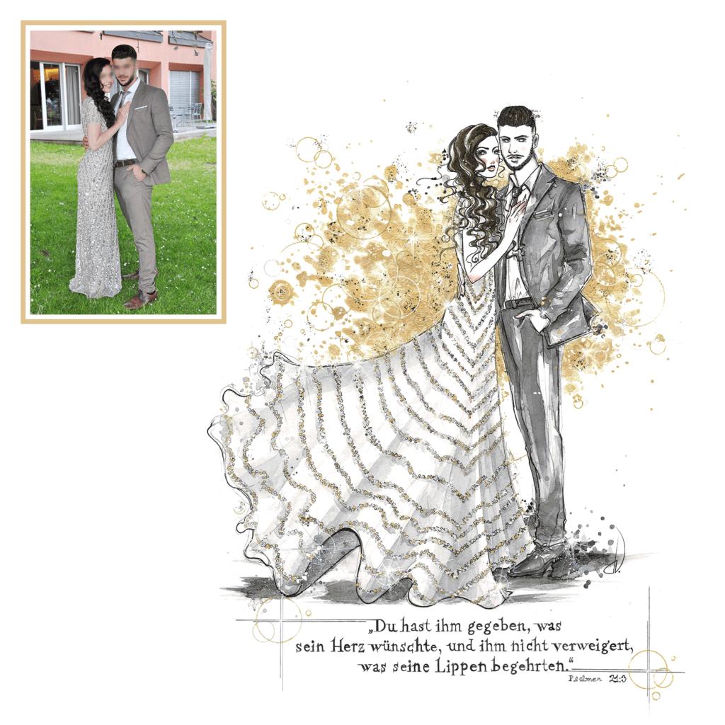 Individuelle Fashion-Illustrationen für Privatpersonen. // Traditional / Digital //