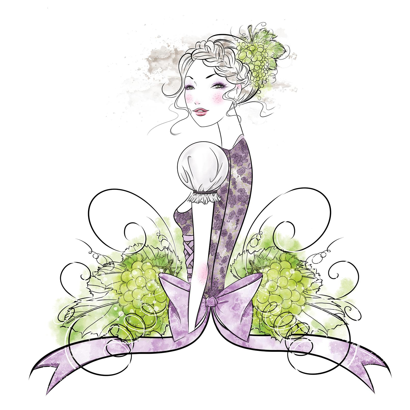 Beauty-Illustration für Caudalie // Digital //