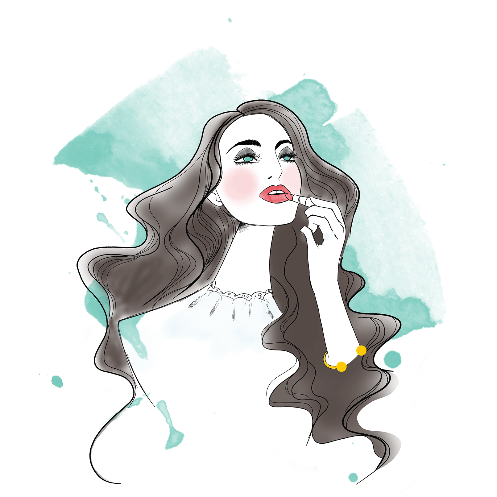 Influencer-Live Drawing auf dem FashionBloggerCafé WHITE EDITION zur Berlin Fashion Week. // Digital //